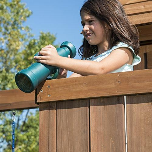 Swing-N-Slide Tower Set with Two Glider, Table, Telescope Wall