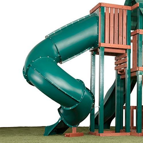 7 Tube Slide Kids Play SwingSets, Playground Jungle