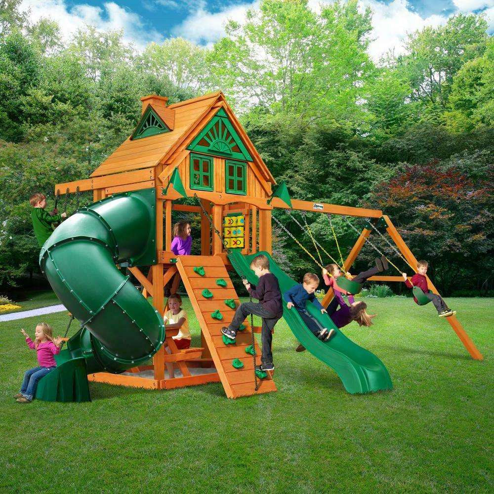 ultimate kids play set swing ground backyard