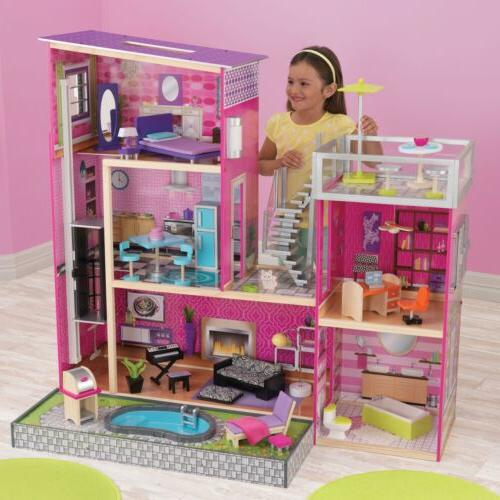 Uptown Wooden House Kids Set Toy Pc Of Furniture