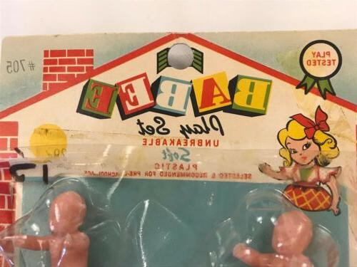 Vintage Babee Babies Set 5 Miniature