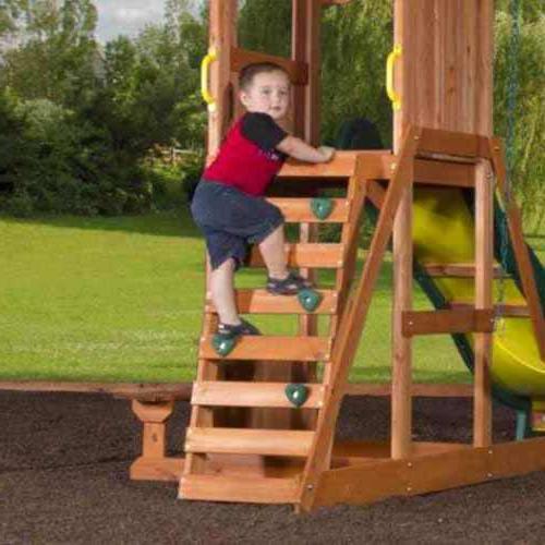 Backyard Swing Playground Slide Acrobat Bar