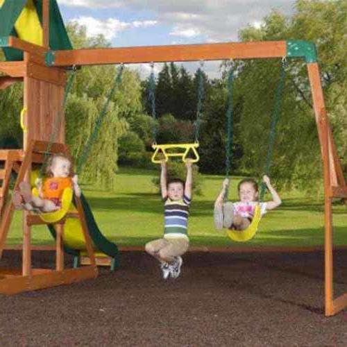 Backyard Discovery Swing Playground Outdoor Slide Acrobat Bar