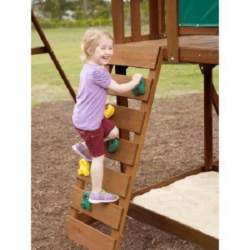 Big Cedar Playground Slide Playset
