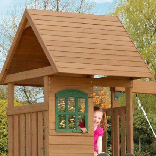 Big Windale Cedar Swing Playground Slide