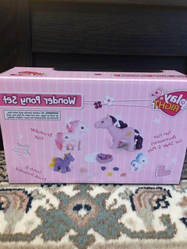 Play Pony Set. Ponies, Clips Other New