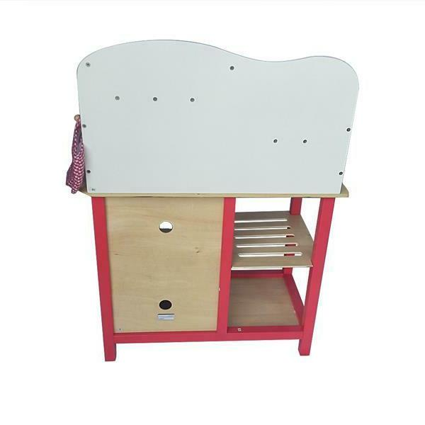 Wood Kitchen Toy Pretend Play Wooden Playset Gifts