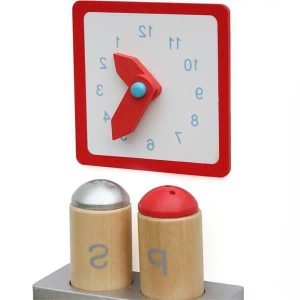 Wood Kitchen Toy Pretend Set Wooden Kids Gifts