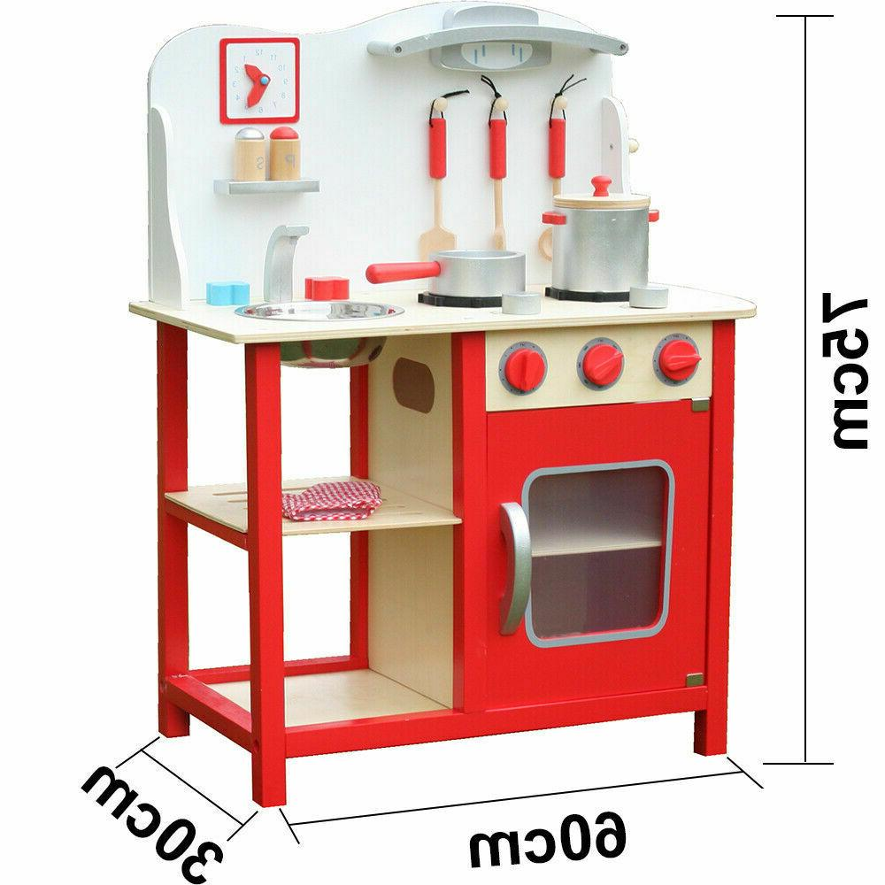 Wood Toy Pretend Play Wooden Playset Kids Gifts
