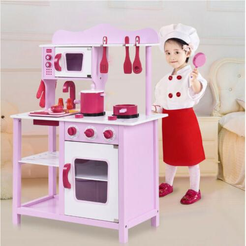 Wood Toy Cooking Toddler Wooden Playset