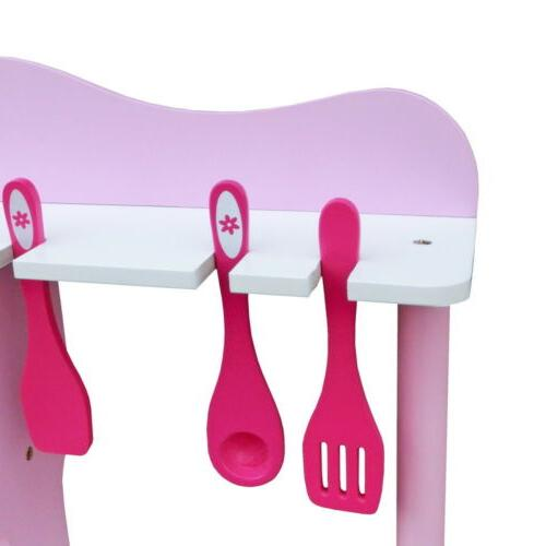 Wood Kids Cooking Play Set Toddler