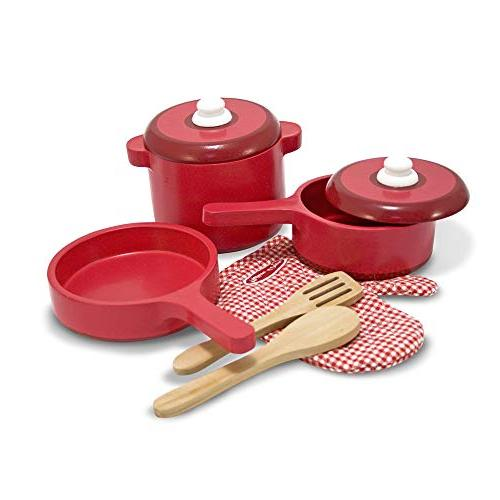 wooden kitchen accessory set play