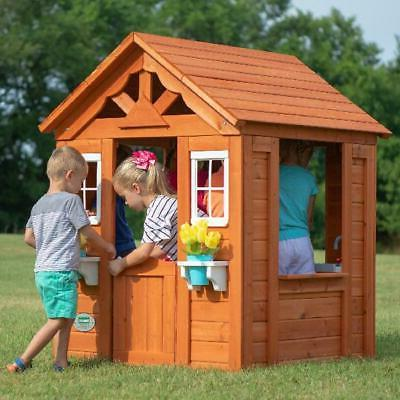 Backyard Playhouse Wooden Outdoor House Kids Fun