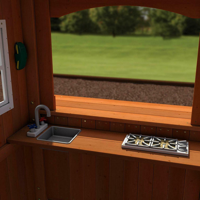 Wooden Cedar Wood Big Playset Large Slide