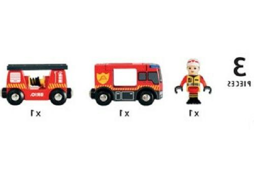 Brio Wooden Train - Emergency Fire Engine 3 Pieces