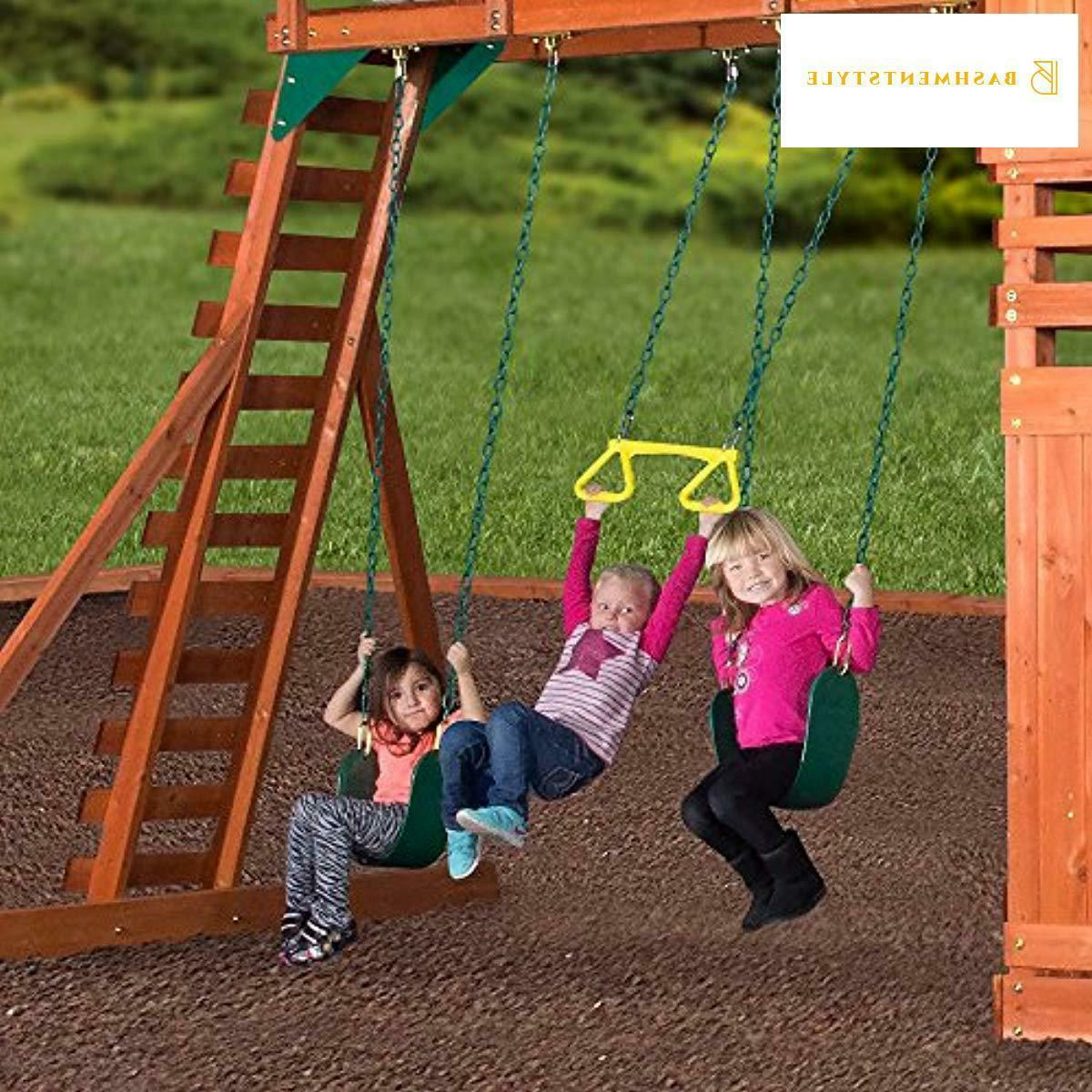 Backyard All Wood Playset Swing