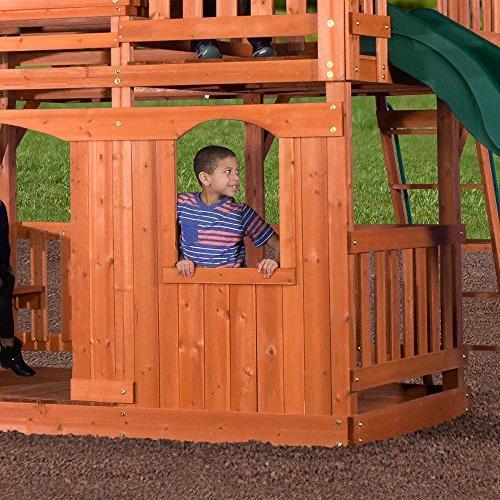 Backyard Woodridge II All Wood Playset Swing