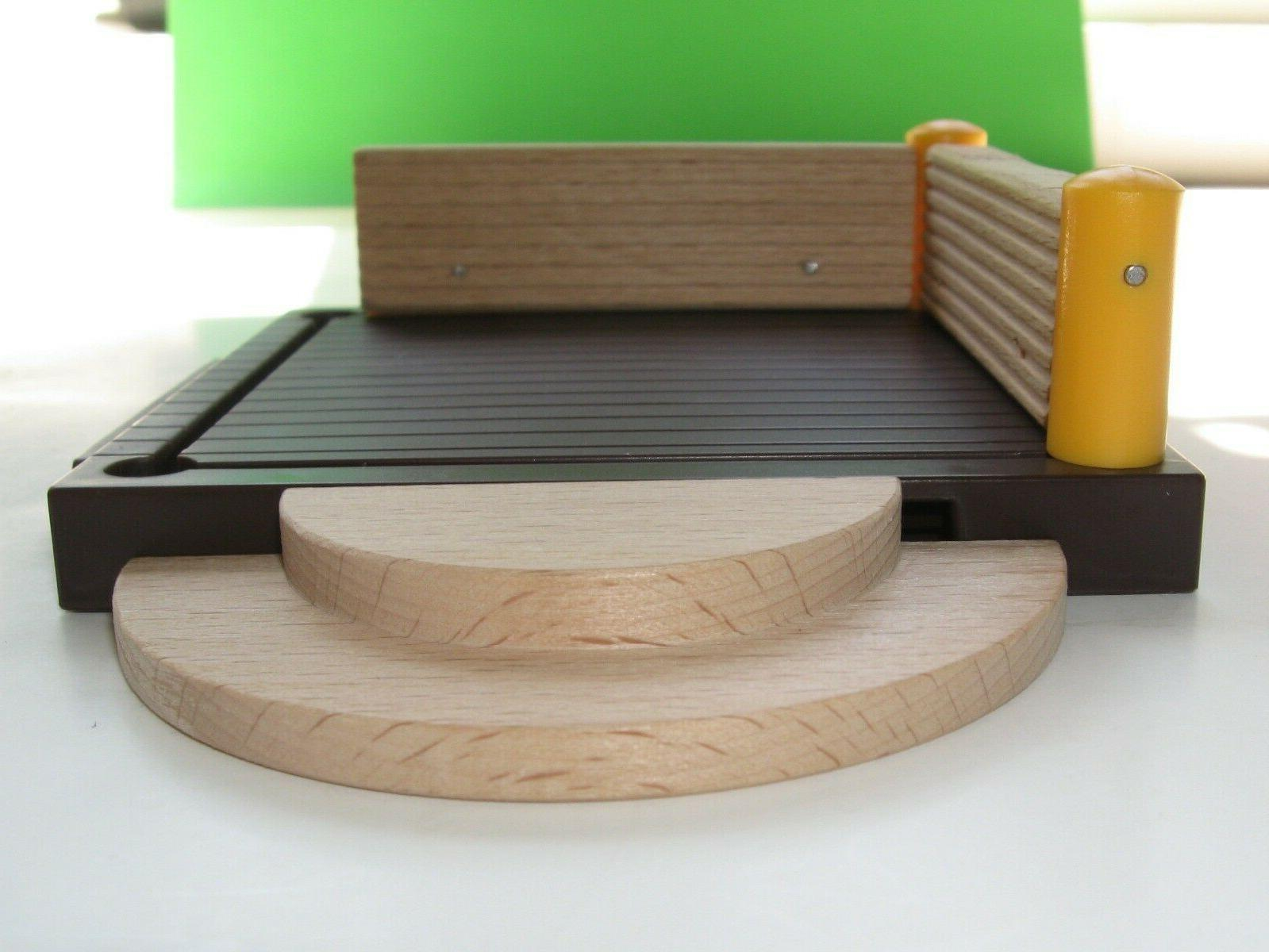 world play set wooden steps and deck