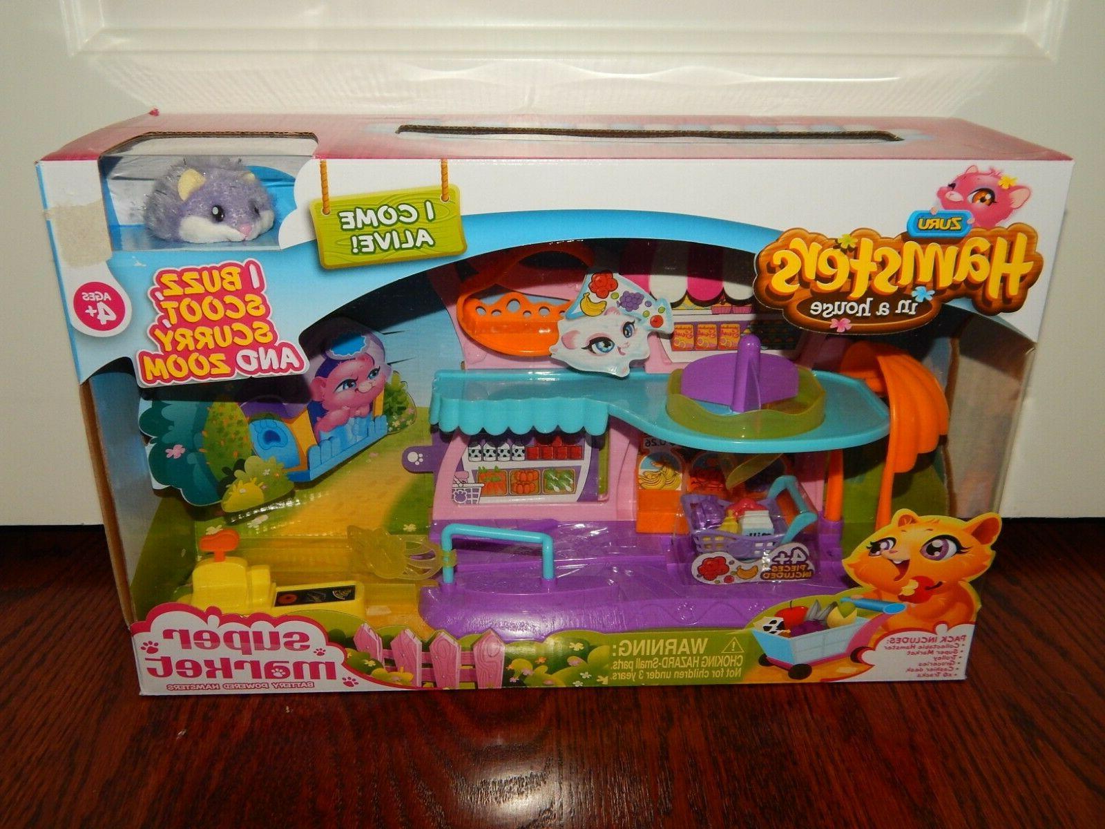Zuru HOUSE Play Set w/ Hampster NEW Grocery Store