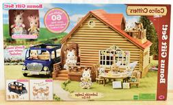 Calico Critters Lakeside Lodge Gift Set 2 Bunnies & Vehicle