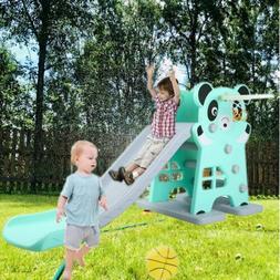 Large Slide for Kids Toddler+Basketball Hoop Climber Toddler