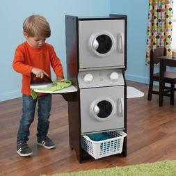 KidKraft Laundry Play set Espresso Wood Washer Dryer Iron Ba