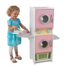 KidKraft Laundry Play Set Pastel Pink Washer Dryer Ironing B