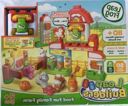 LeapFrog LeapBuilders 50 Piece Food Fun Family Farm Interact
