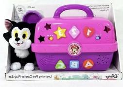 Disney Learning Pink Pet Carrier Play Set Minnie Mouse Figar