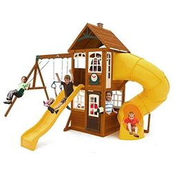 KidKraft Lewiston Retreat Cedar Wood Swing Set PLAYSET