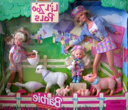 Barbie Li'l Zoo Pals Gift Set w Barbie, Kelly & Stacie Dolls