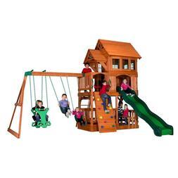 Backyard Discovery Liberty II All Cedar Wood Playset Swing S
