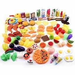 Little Bear Foot Play Food Set for Kids - Pretend 150 + Piec