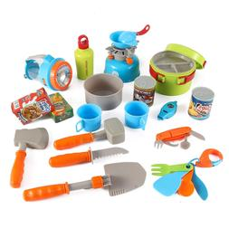 Little Explorers 20 Piece Camping Gear Toy Tools Play Set fo