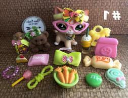 Littlest Pet Shop  Adorable Accessory Play Set 18 Pieces Plu