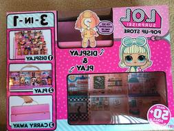 LOL Surprise Doll Pop Up Store 3 In 1 Play Set Display Case
