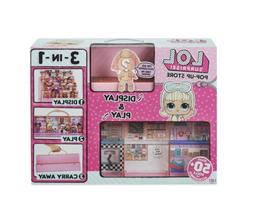 LOL Surprise Pop Up Store 3 In 1 Play Set Display Case + Exc