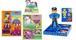 Magnetic Dress Up Bundle Set - 1-My Horse Clover 1-Joey, and