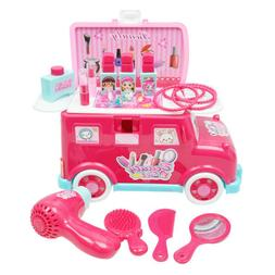 Makeup Tool Kit Sets Hair Dryer Comb Cosmetics Toys for Girl