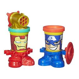 Play-Doh Marvel Can-Heads Featuring Iron Man and Captain Ame