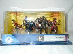 Disney Marvel Comics Black Panther 6 Piece Figure Play Set -