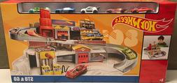 Mattel Hot Wheels Throwback STO & GO Retro Garage 5 Car Stor
