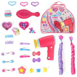 Mommy & Me Doll Hair play set with working Blow dryer Hair B