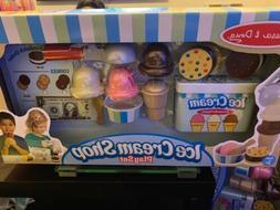melissa & Doug ice cream shop playset 21 pieces wood toys