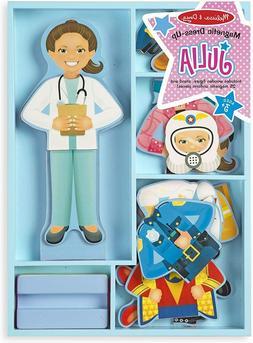 Melissa & Doug Julia Magnetic Dress-Up Wooden Doll Pretend P