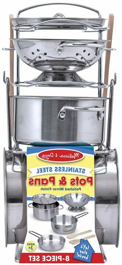 Melissa & Doug Let s Play House! Stainless Steel Pots & Pans