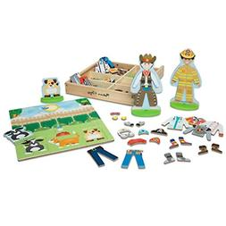 Melissa & Doug Occupations Magnetic Dress-Up Wooden Dolls Pr