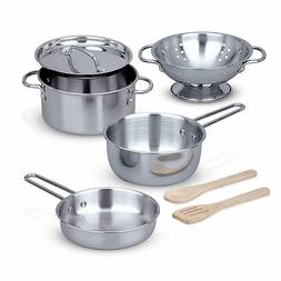 Melissa Doug Let's Play House Stainless Steel Pots Pans Pl