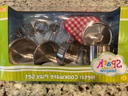 Metal Cookware Play Set By Spark Toddler 3 Years Old + Brand