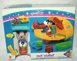 Mattel Mickey Mouse Talking Fun Car Camper Play Set 1995 Dis